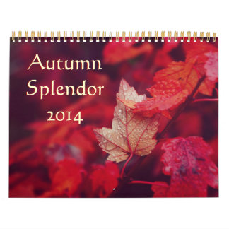 Esplendor 2014 del otoño calendario