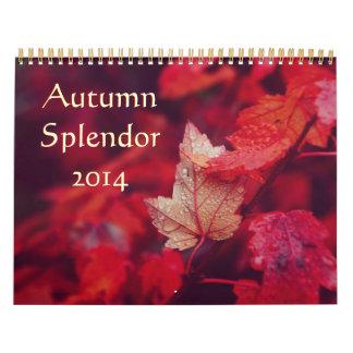 Esplendor 2014 del otoño calendarios