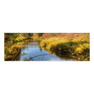 Esplendor del otoño tarjetas de visita mini