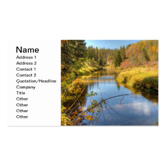 Esplendor del otoño tarjetas de visita