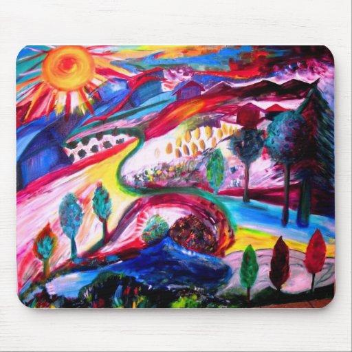 """""""Esplendor en JERUSALÉN"""" por Michelle Katz, 2006 Alfombrillas De Raton"""