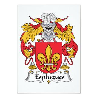 Esplugues Family Crest Personalized Invite