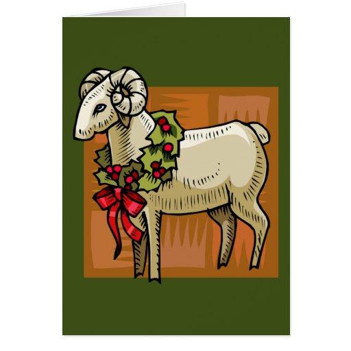 Espolón del navidad tarjeta de felicitación