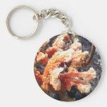 Esponja anaranjada del mar llaveros