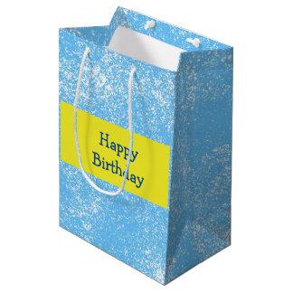 Esponja de la aguamarina bolsa de regalo mediana