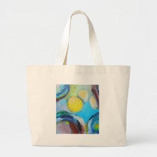 Esporas abstractas (expresionismo microscópico) bolsas lienzo