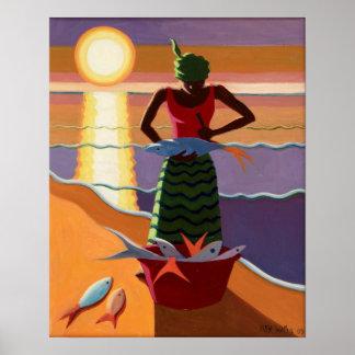 Esposa 2009 de los pescados póster