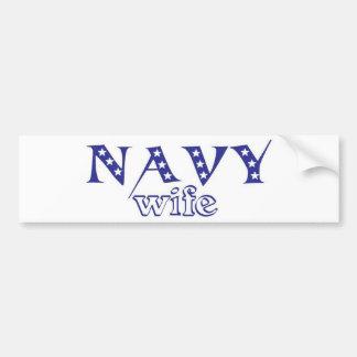 Esposa 2 de la marina de guerra pegatina para auto