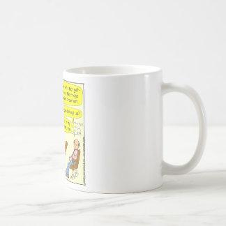 esposa 332 lenta con el dibujo animado del taza básica blanca