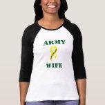 Esposa 987 del ejército camisetas