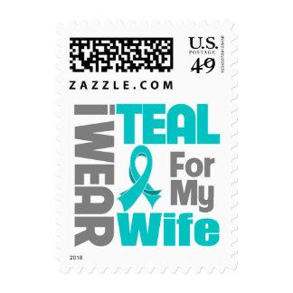 Esposa - ayuda del cáncer ovárico de la cinta del sello