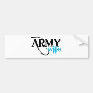 Esposa azul clara del ejército pegatina para auto