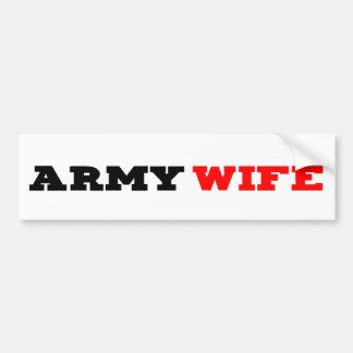 Esposa Bumpersticker del ejército Etiqueta De Parachoque