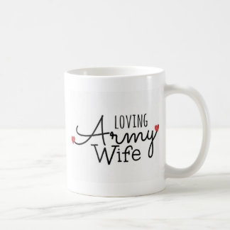 Esposa cariñosa del ejército taza de café