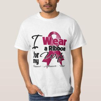 Esposa - cinta del mieloma múltiple camisas