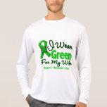 Esposa - cinta verde de la conciencia camisetas