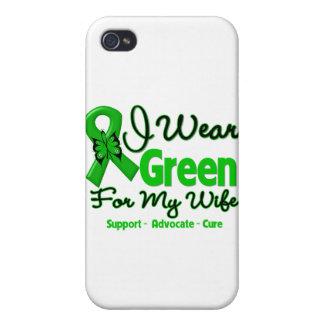 Esposa - cinta verde de la conciencia iPhone 4 carcasas