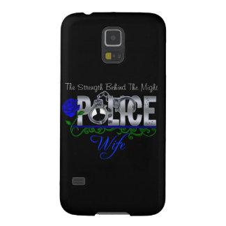 ESPOSA color de rosa azul de la POLICÍA Carcasa Para Galaxy S5
