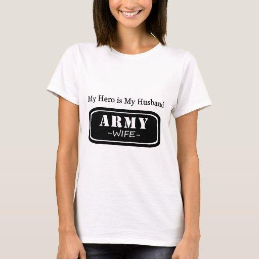Esposa/cónyuge/mamá/novia orgullosos del ejército playera