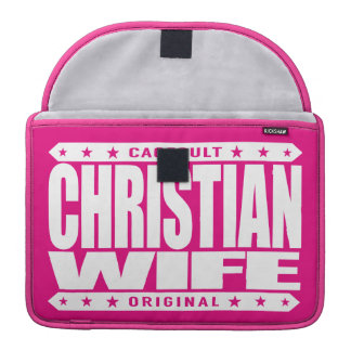 ESPOSA CRISTIANA - soy fiel a mi dios primero Fundas Para Macbooks