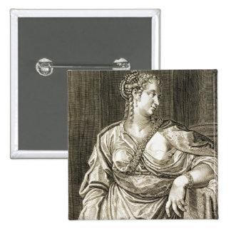 Esposa de Agrippina de Tiberius (grabado) Pin Cuadrada 5 Cm
