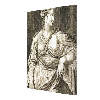Esposa de Agrippina de Tiberius (grabado) Impresión En Lona Estirada