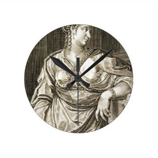 Esposa de Agrippina de Tiberius (grabado) Reloj De Pared