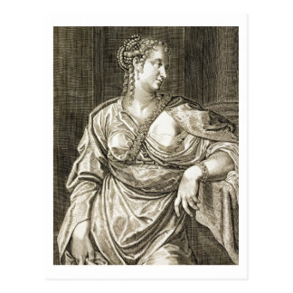 Esposa de Agrippina de Tiberius (grabado) Tarjeta Postal