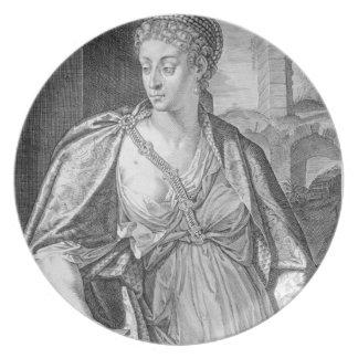 Esposa de Caesonia de Caligula (grabado) Platos