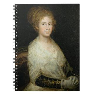 Esposa de Josepha Bayeu (d.1812) del retrato proba Cuaderno