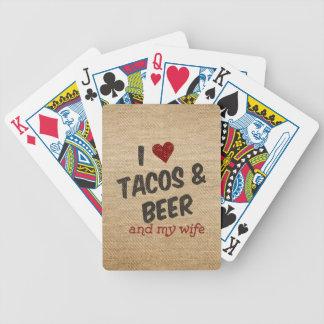 Esposa de la cerveza del Tacos del corazón de la Barajas De Cartas