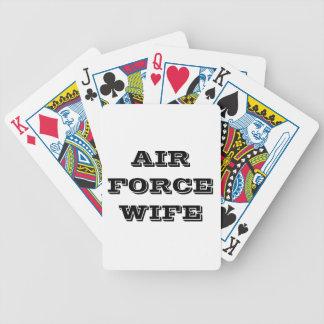 Esposa de la fuerza aérea de los naipes cartas de juego