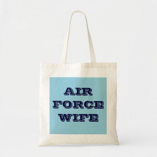 Esposa de la fuerza aérea del bolso bolsa tela barata