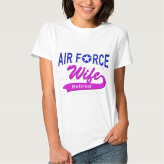 Esposa de la fuerza aérea jubilada remeras