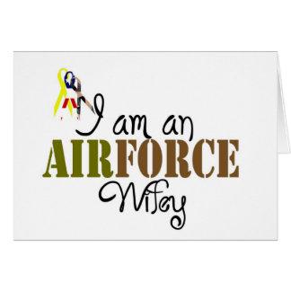 esposa de la fuerza aérea felicitaciones