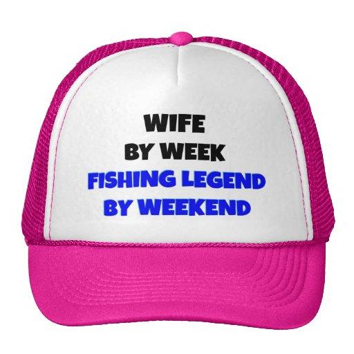 Esposa de la leyenda de la pesca gorros bordados