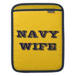 Esposa de la marina de guerra de la manga de Ipad