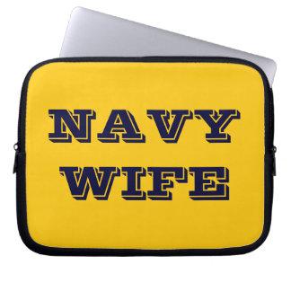 Esposa de la marina de guerra de la manga del orde funda portátil