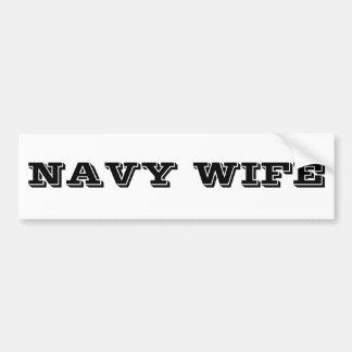 Esposa de la marina de guerra de la pegatina para  pegatina para auto