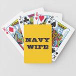 Esposa de la marina de guerra de los naipes cartas de juego