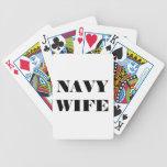 Esposa de la marina de guerra de los naipes barajas de cartas