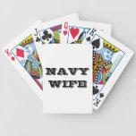 Esposa de la marina de guerra de los naipes baraja de cartas