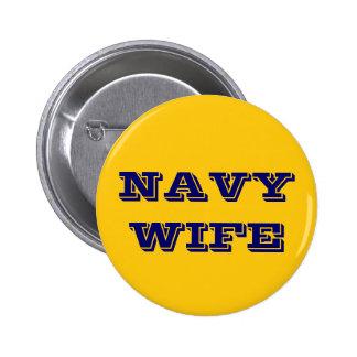 Esposa de la marina de guerra del botón pin redondo de 2 pulgadas