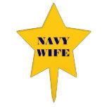 Esposa de la marina de guerra del primero de la to decoración de tarta