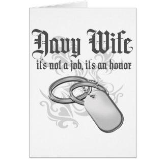 Esposa de la marina de guerra - es un honor tarjeta de felicitación