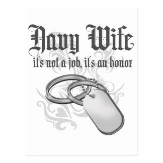 Esposa de la marina de guerra - es un honor postales