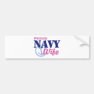 Esposa de la marina de guerra pegatina para auto