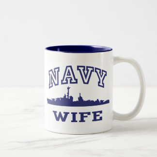 Esposa de la marina de guerra tazas