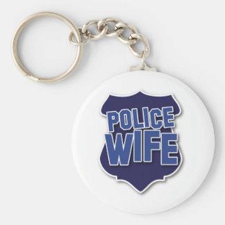 esposa de la policía llavero redondo tipo pin