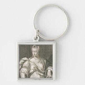 Esposa de Livia Drusilla (c.55 A.C. - ANUNCIO 29)  Llavero Cuadrado Plateado